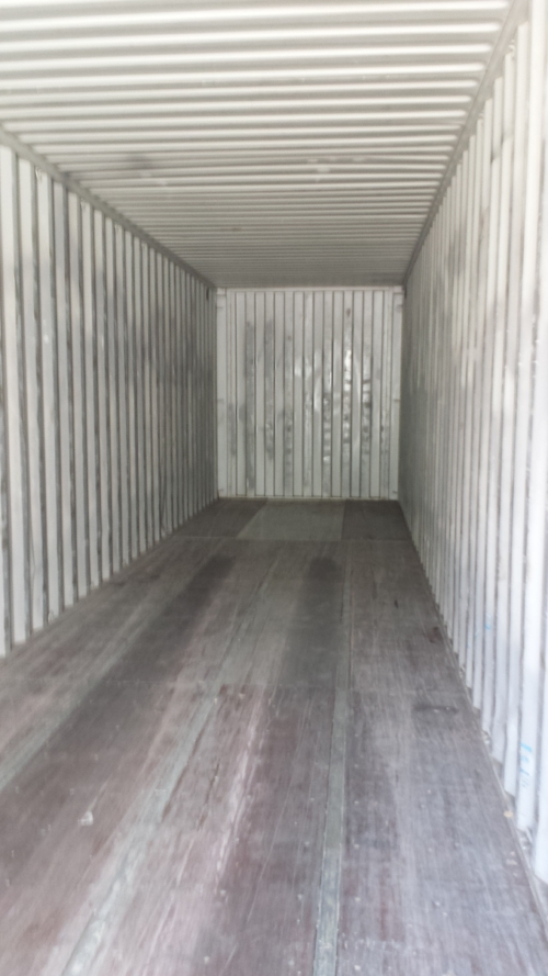 Inside 40' high cube container