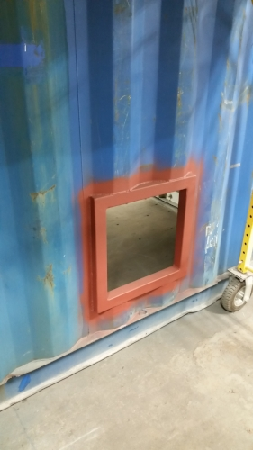 Hole for ventilation cut and framed