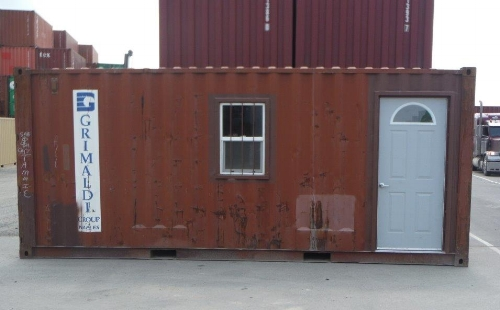 Container office with man-door and window