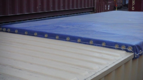 40'HC partial open-top with removable tarp