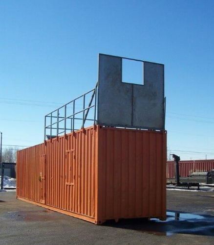 Fire training container