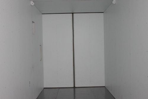Insulated container with insulated doors