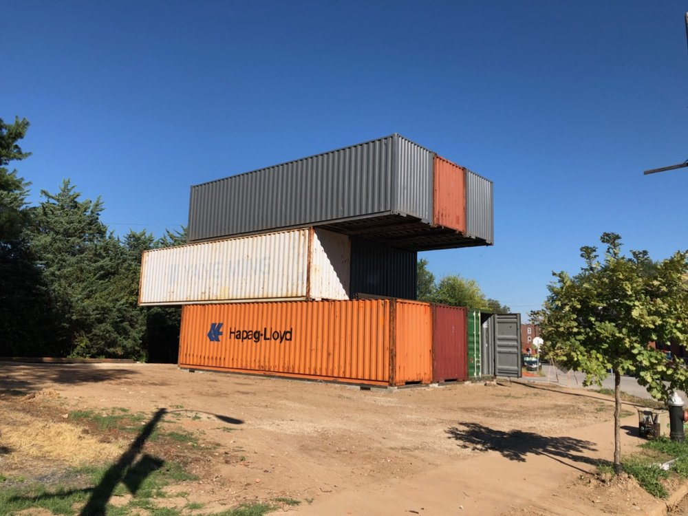 A recent customer stacked these 9 Super Cubes containers for a new home in St Louis