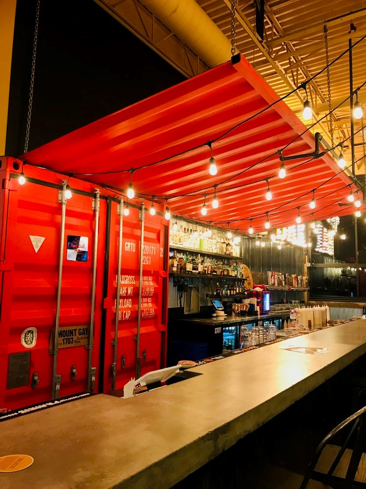 Super Cubes container attracts people to Victoria Burrow bar