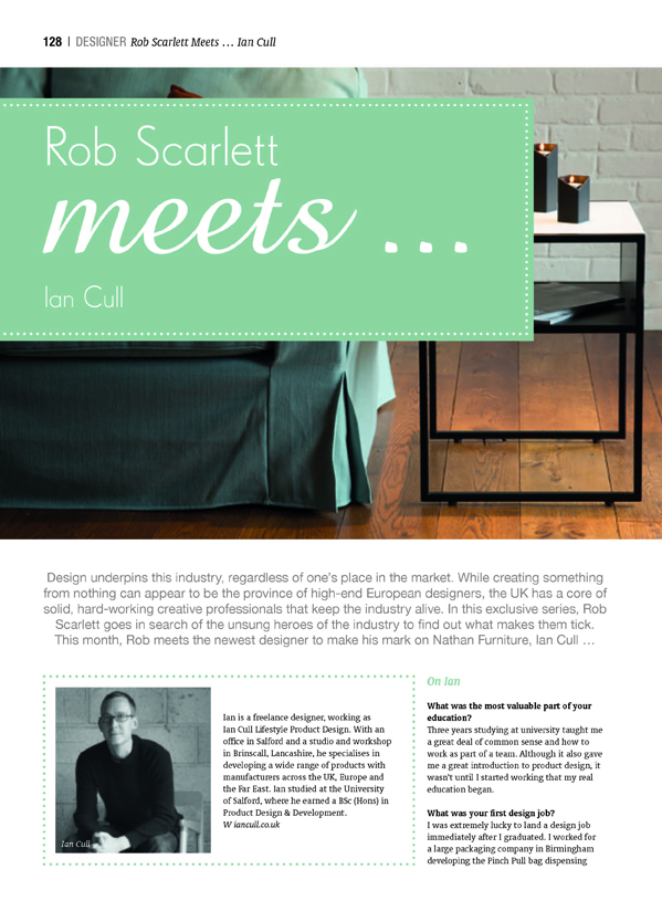 Furniture News September 2016 - Rob Scarlett Meets...