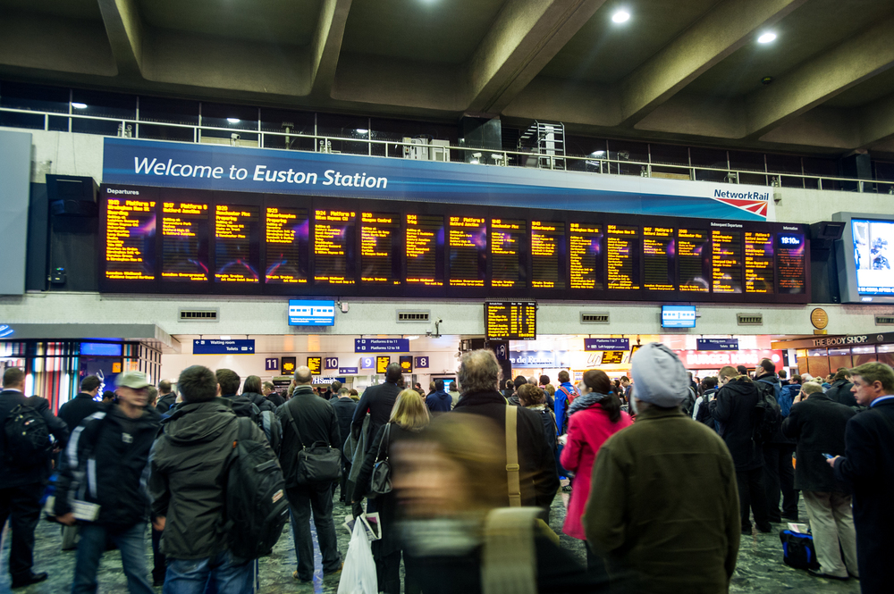 "Euston Station: a  ""design that should never have left the drawing-board — if, indeed, it was ever on a drawing board."""