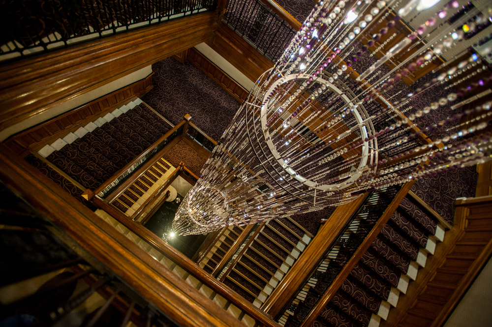 Staircase chandelier, Grand Central Hotel, Glasgow.