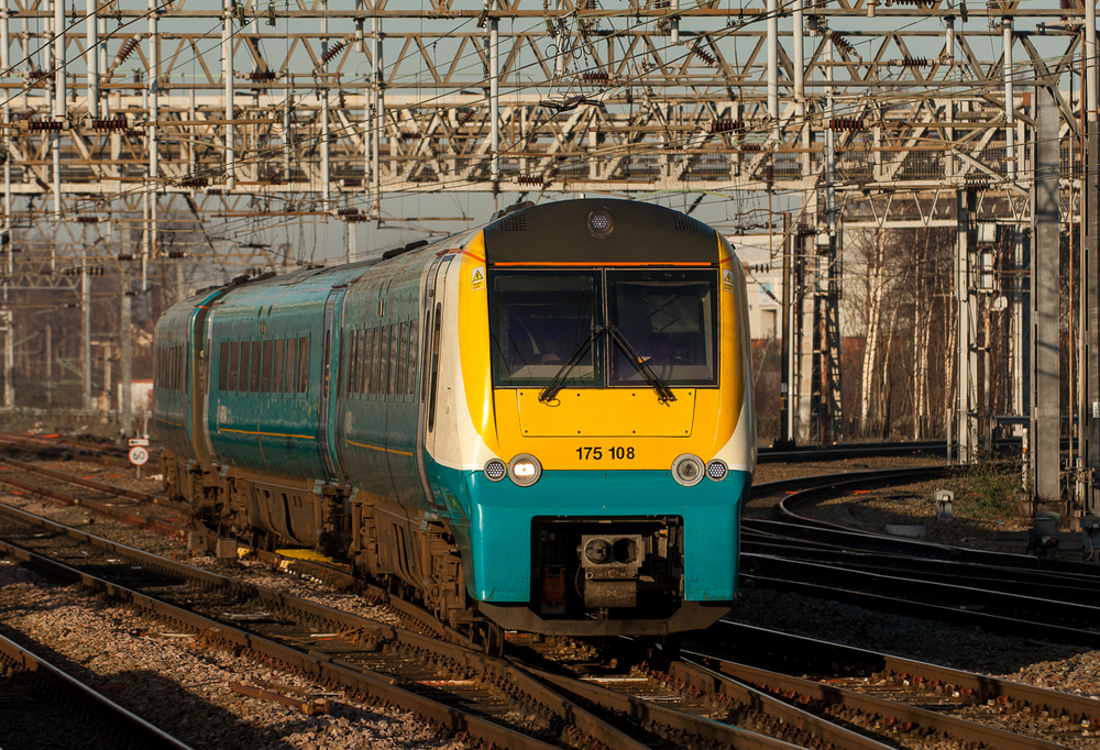 Arriva 175108, my ride to Shrewsbury, arrives at Crewe. With every mile, the Class 175/1 DMU seemed less a modern conveyance and more a robin's-egg-blue time machine.