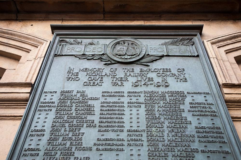 War memorial, Inverness station.