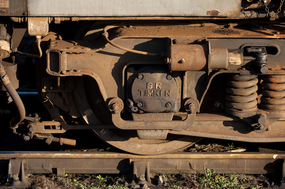 """Made in England,"" truck detail, BR 37255."