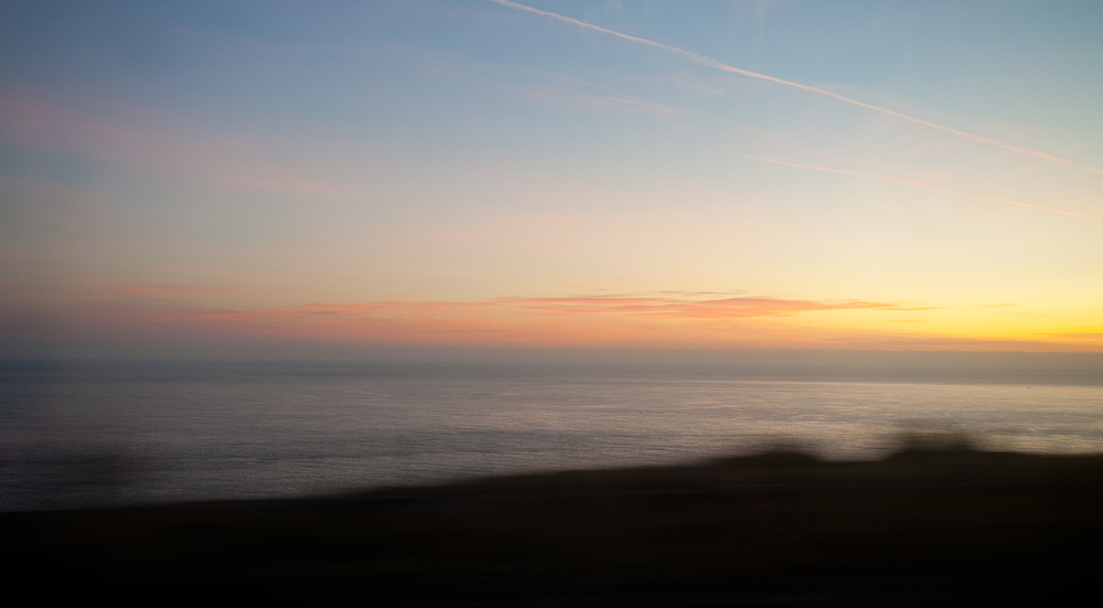 Tracing the Channel near Berwick-upon-Tweed at sunrise.