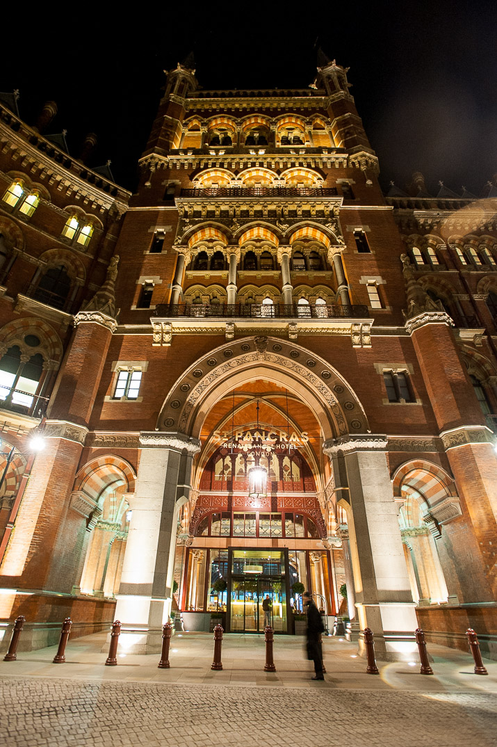 St. Pancras Renaissance Hotel designed by Sir George Gilbert Scott, and described by many as the most romantic building in London, the former Midland Grand Hotel has now re-opened as the St Pancras Renaissance London Hotel. 