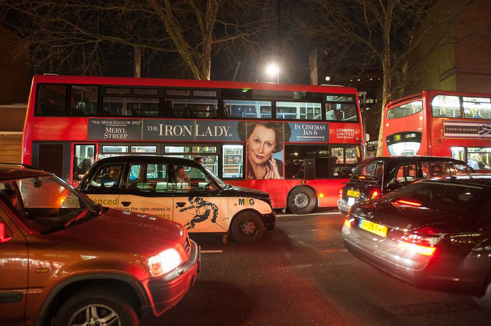 London double-deck bus