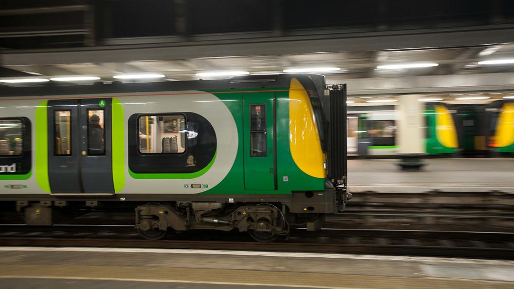 London Midland train arrivingLondon Midland 350250  Class 350/2 Desiro (EMU)[camera clock is two minutes fast]