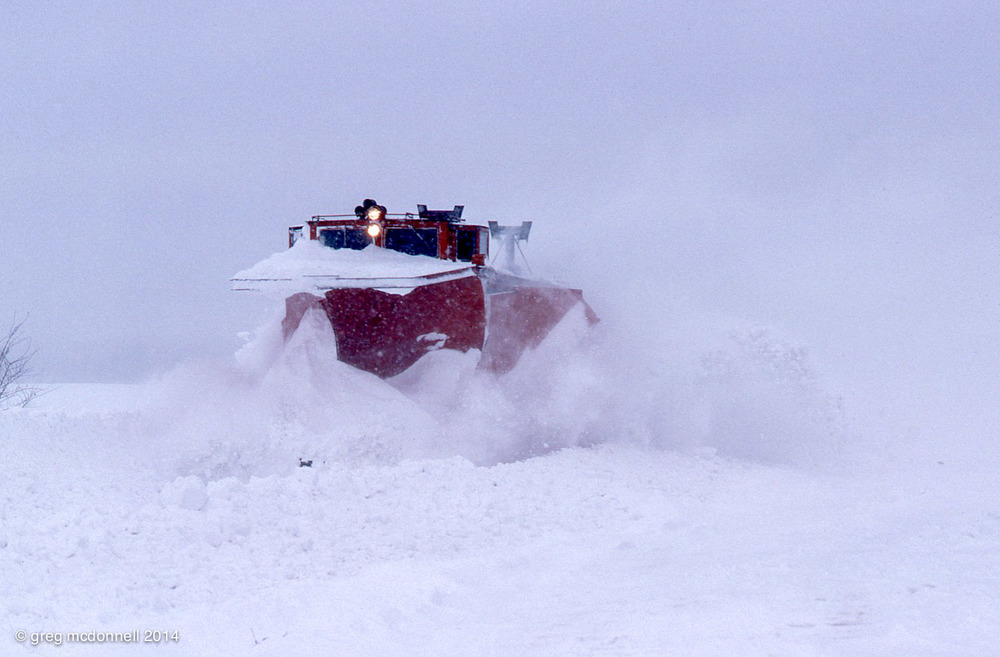 Taking a second run at the drifts east of Clinton.
