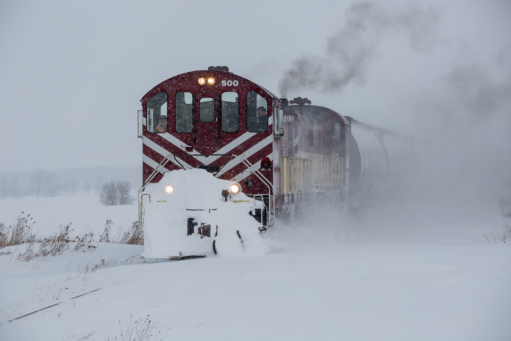 Ontario Southland Tillsonburg job at Airport Rd., north of Ostrander, Ont., February 18, 2014.