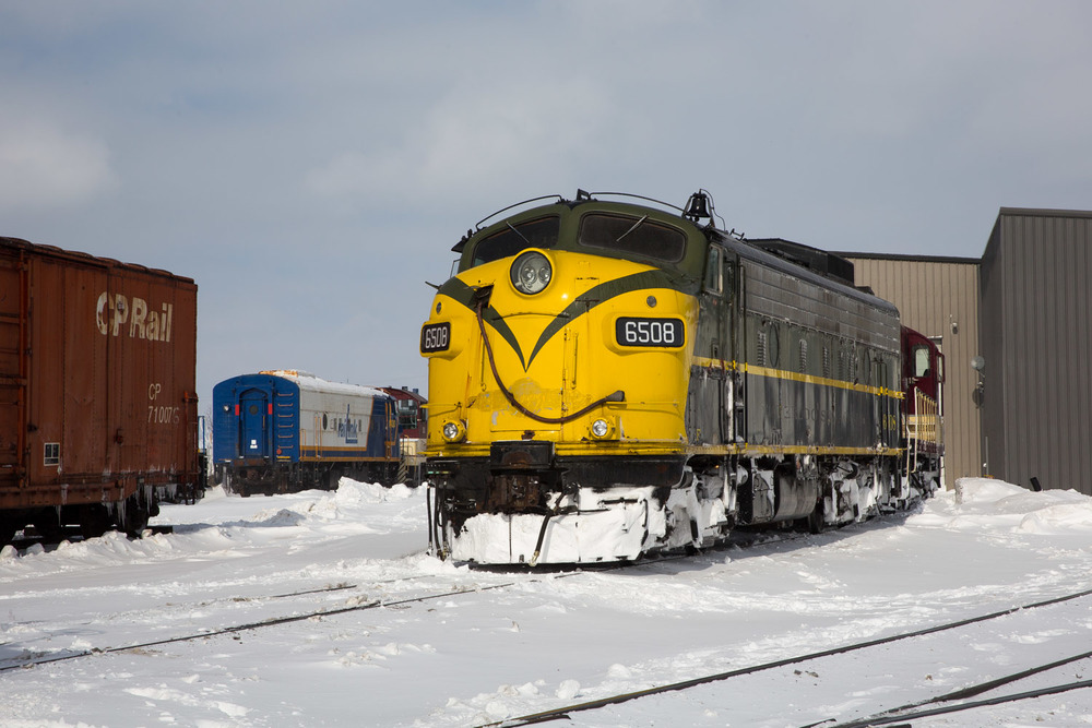 Their rescue role fulfilled, OSR 6508 and 378 prepare for snowplow duty.