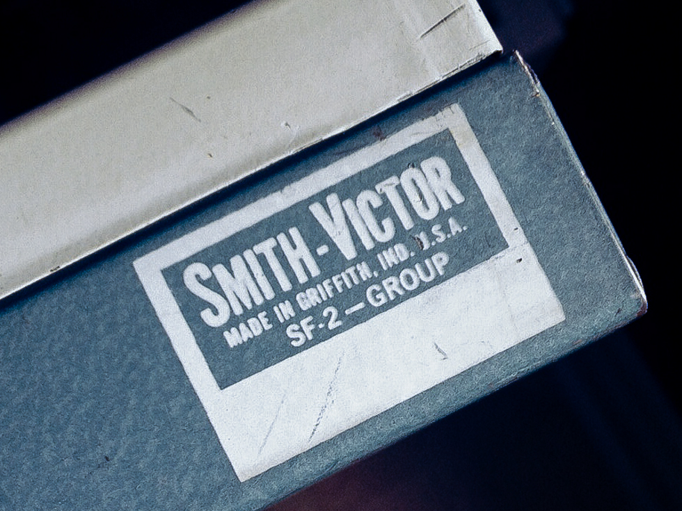 "Smith-Victor's ""Made in Griffith, Ind., U.S.A."" time machine. Who knew?"