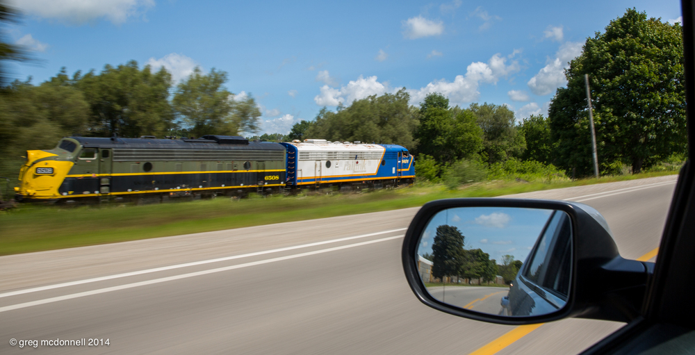 Pacing a pair of Fs on old Highway 2 east of Beachville — in 2014!