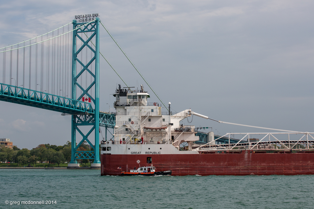 J.W. Westcott II, Great Republic and the Ambassador Bridge.