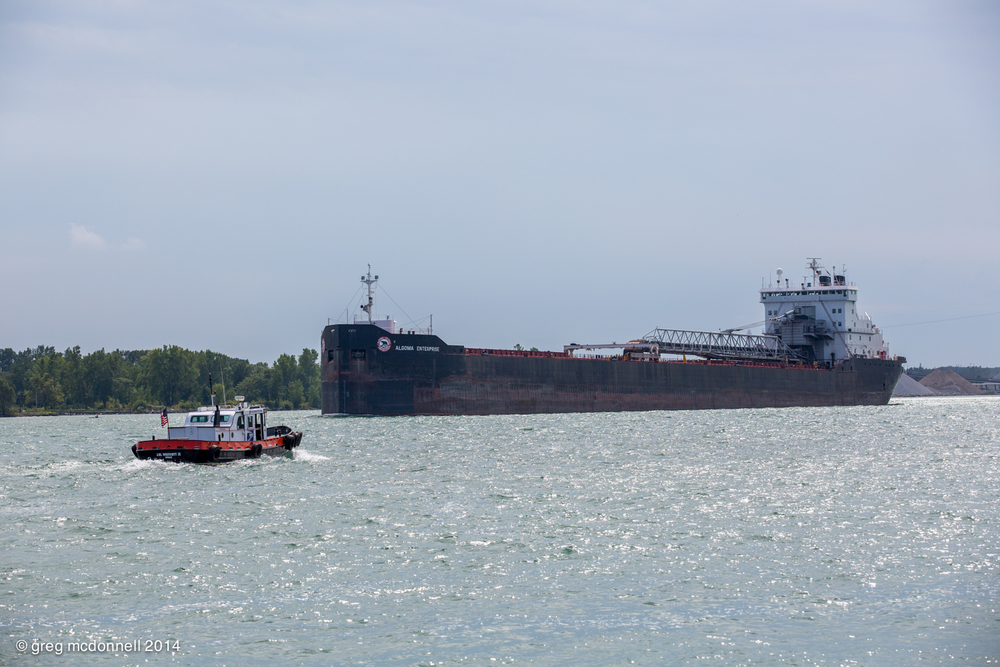 Mail call for Algoma Enterprise, upbound after a stop at the Sterling fuel dock.