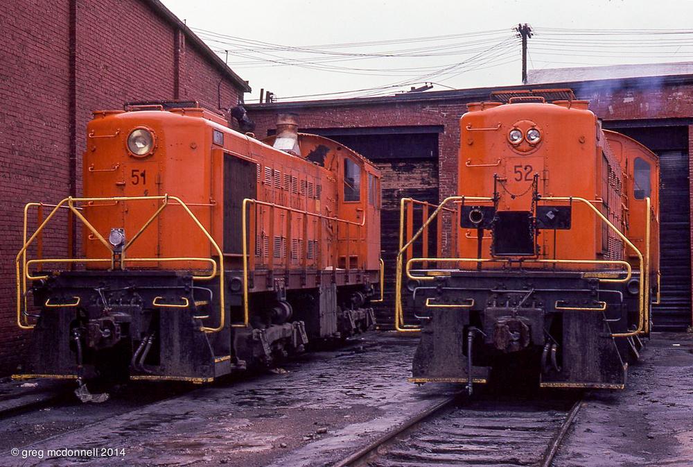 1974-10-01Buffalo Creek shop, Ohio Street yard.BCK 51  S2 [ERIE 522]BCK 52  S4 [ERIE 525]