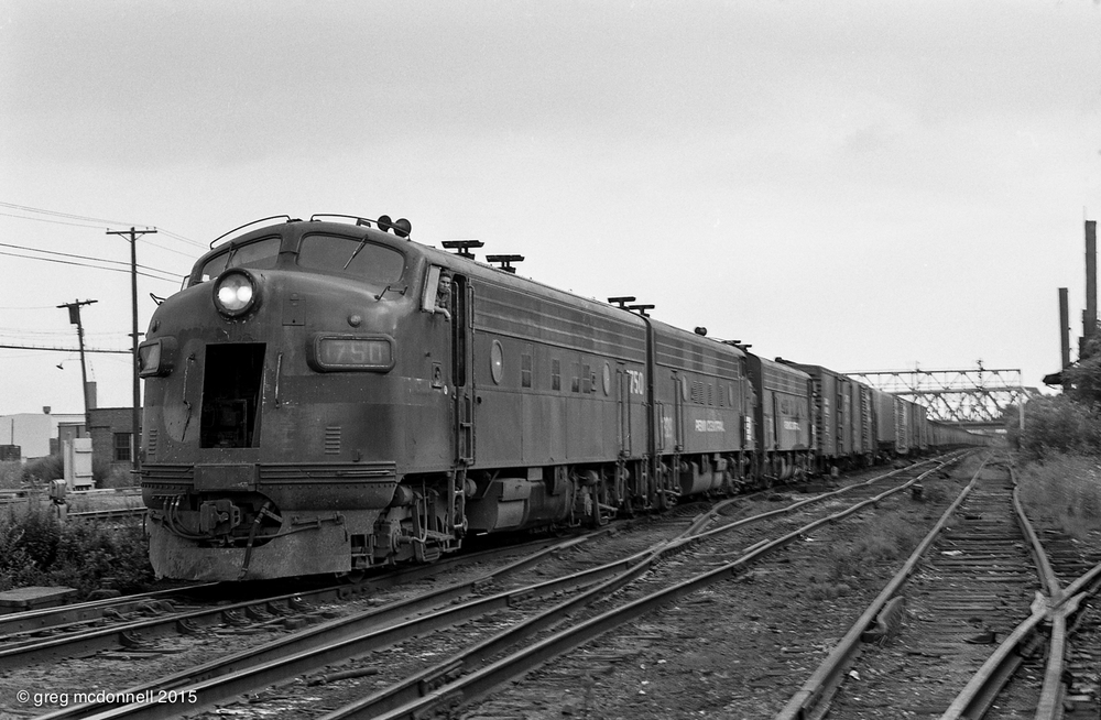 Penn Central Extra 1750 East, Tower 47, Buffalo, New York, August 3, 1974.
