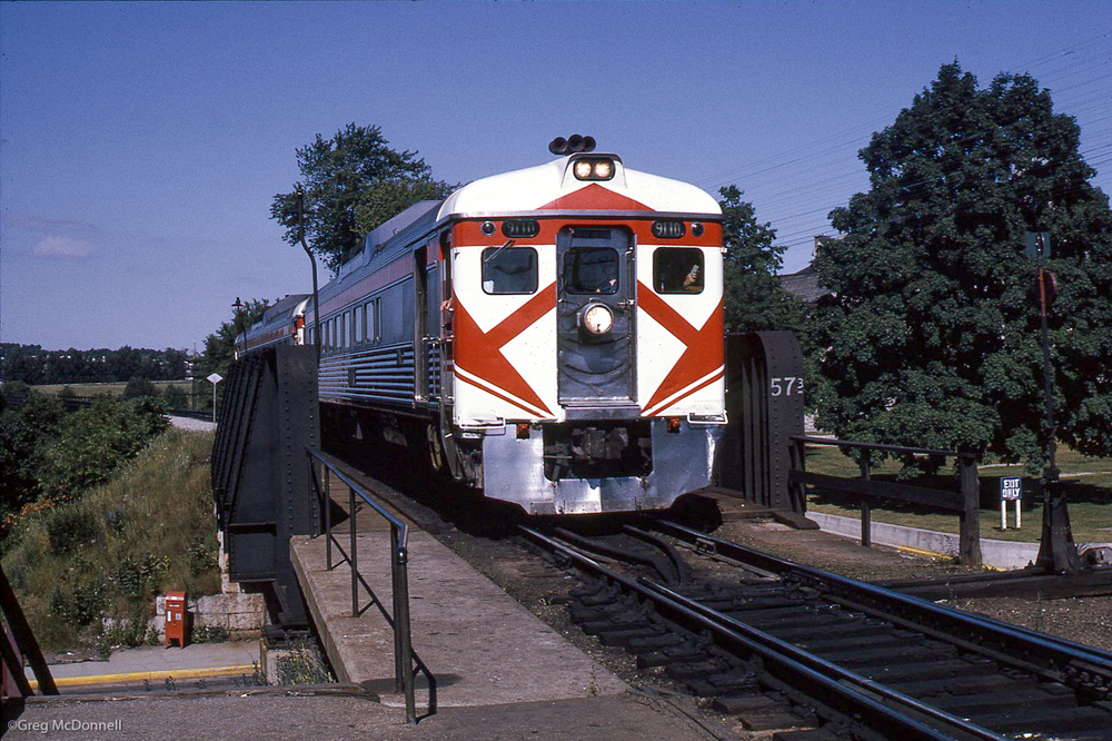 Windsor-Toronto train No. 338 calls on Galt for the last time, July 3, 1971.