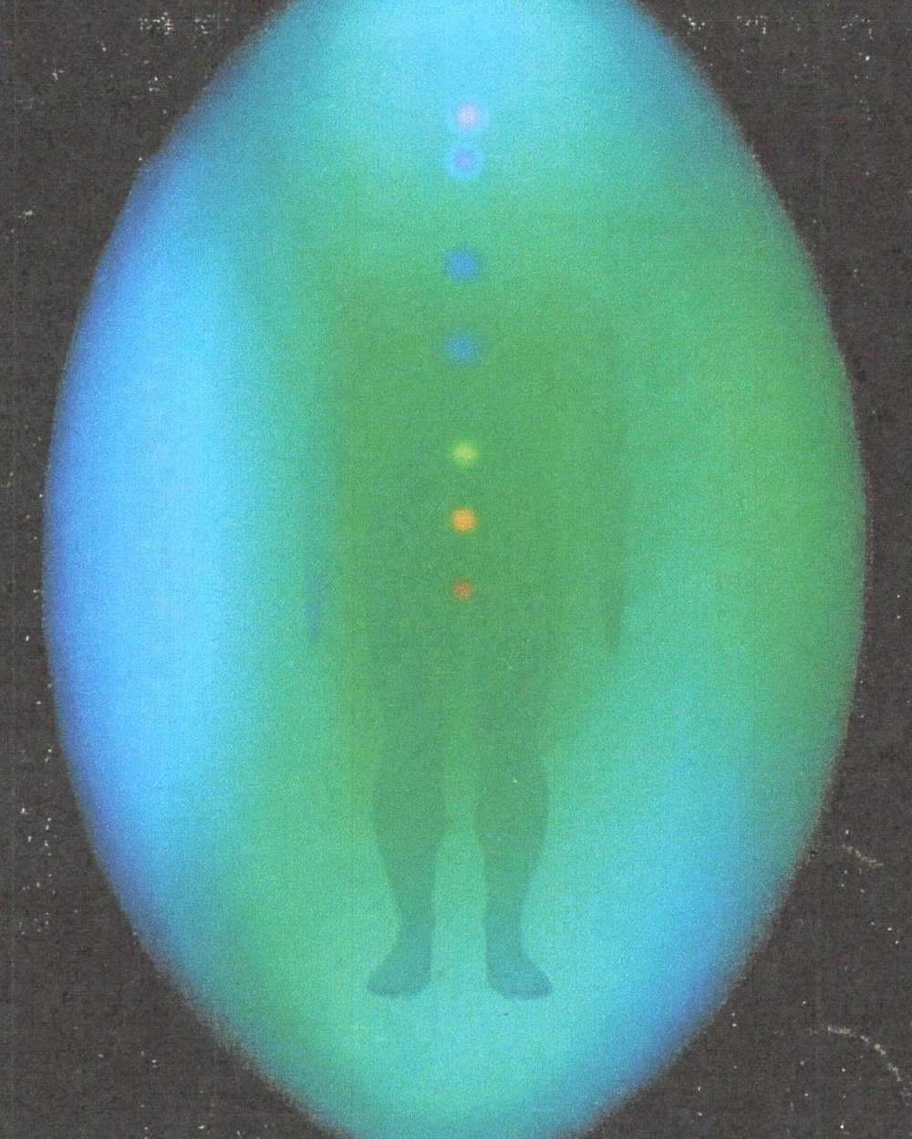 Aura photography performed on the same person after a private session with Victor