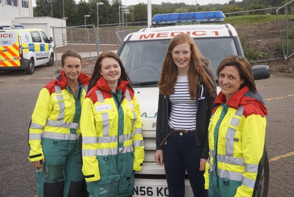 L to R Dr Heather McColl, Emergency Department Registrar, Charge Nurse Claire Banks, Hana Elder and Dr Sara Robinson.jpeg