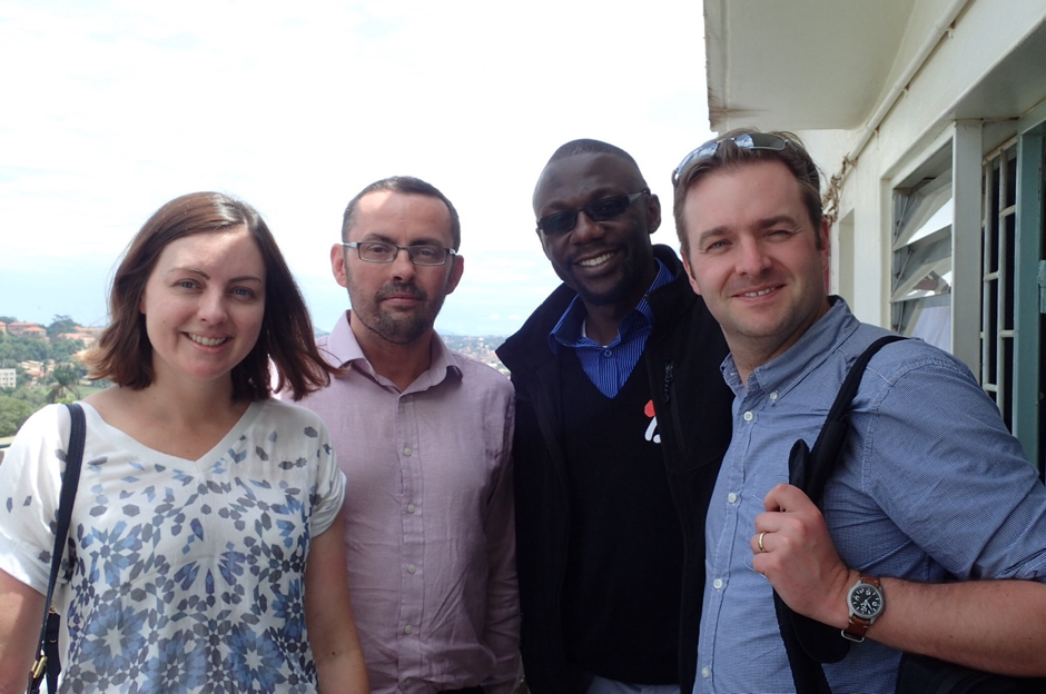 Katy, Alasdair, Joseph and Ed at Makerere Medical school