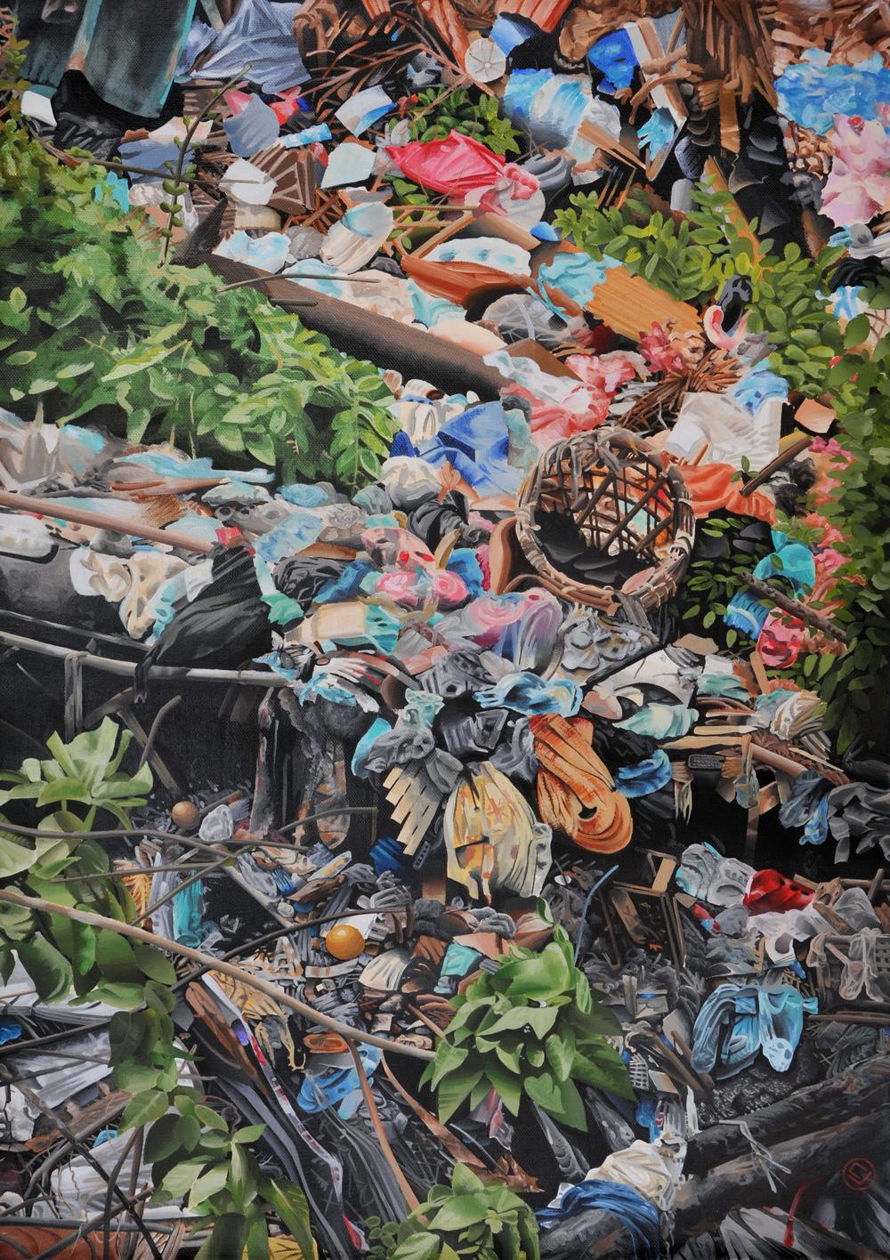 trash, Hanoi VN. (20x26)