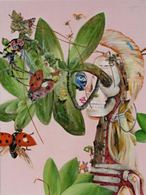 remixed Ladybugs, 12x16