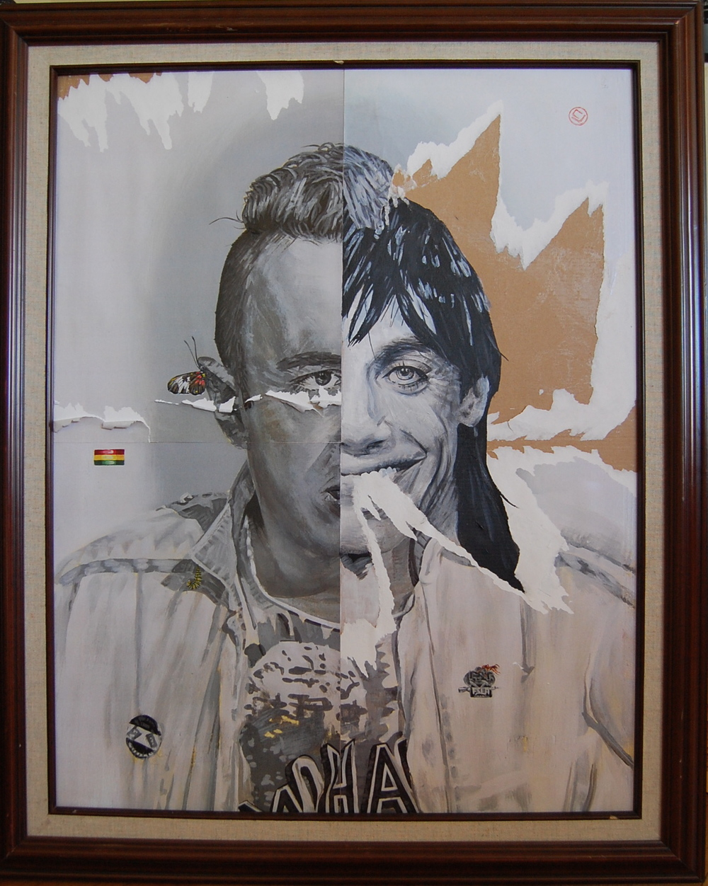 Joe Strummer and Iggy Pop 26x30