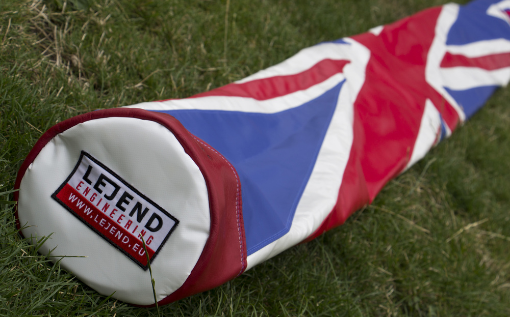 Lejend Patriot Pole Vault Bag Union Jack Flag Custom