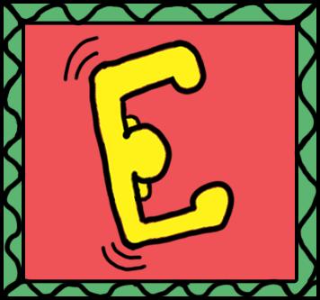 Keith Haring E