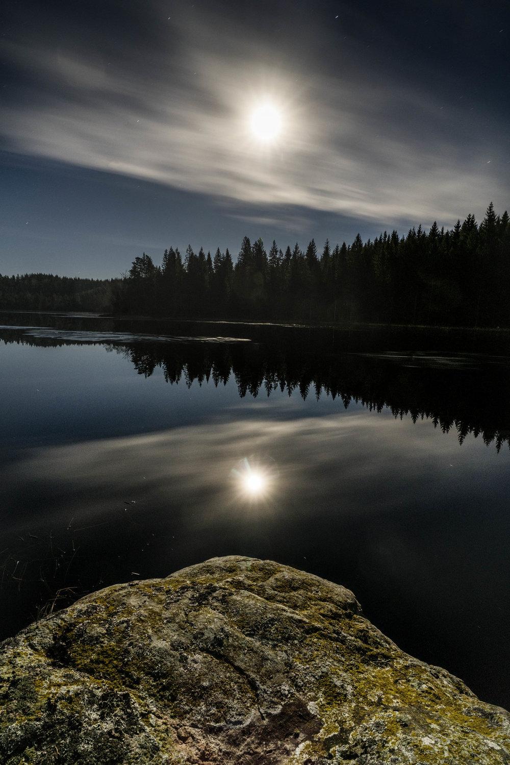 Rammsjøen en nat før fuldmåne