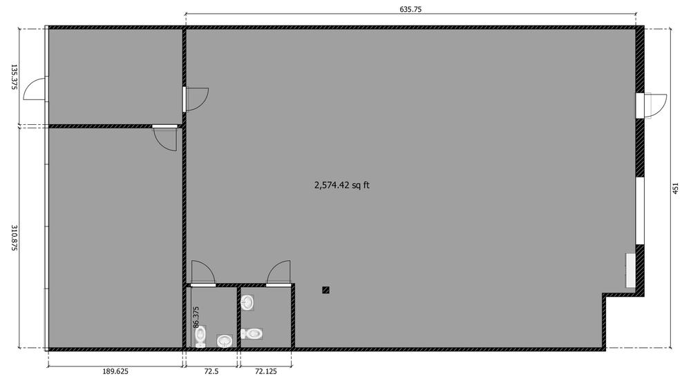 2574 total square feet