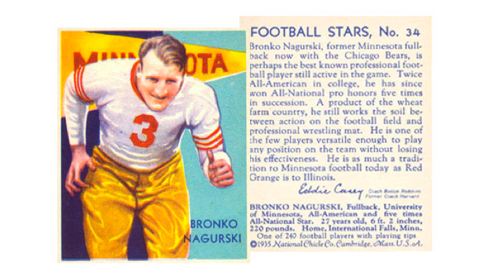 Nagurski Football Trading Card