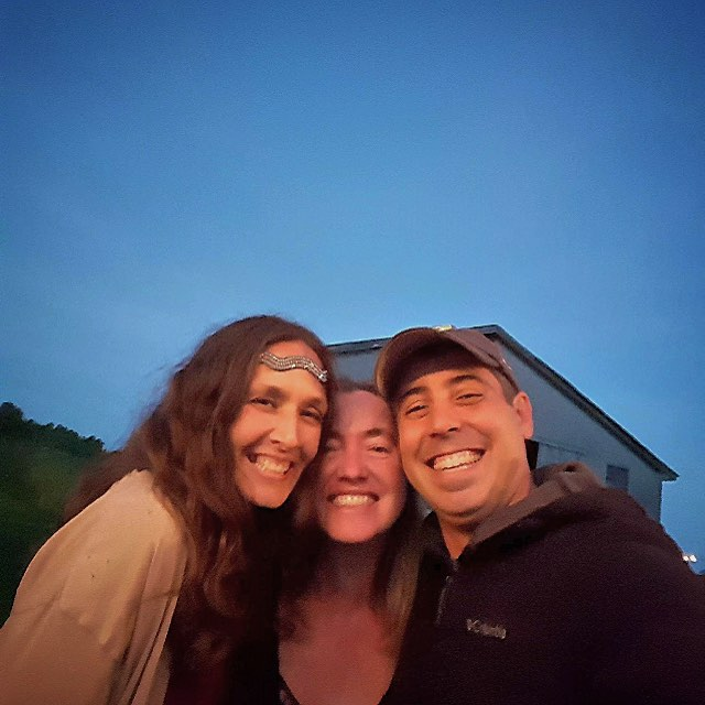 Love these two! #Maine #farmwedding means getting to see beautiful old friends. #Machias #rocks