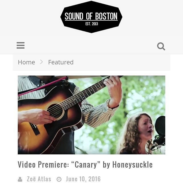 "HAPPY FRIDAY! We are very excited to premiere this sunny rendition of @honeysuckleband's ""Canary"" in the latest #spareroomsession. Thanks to @soundofboston for the premiere! Check it out on our website."