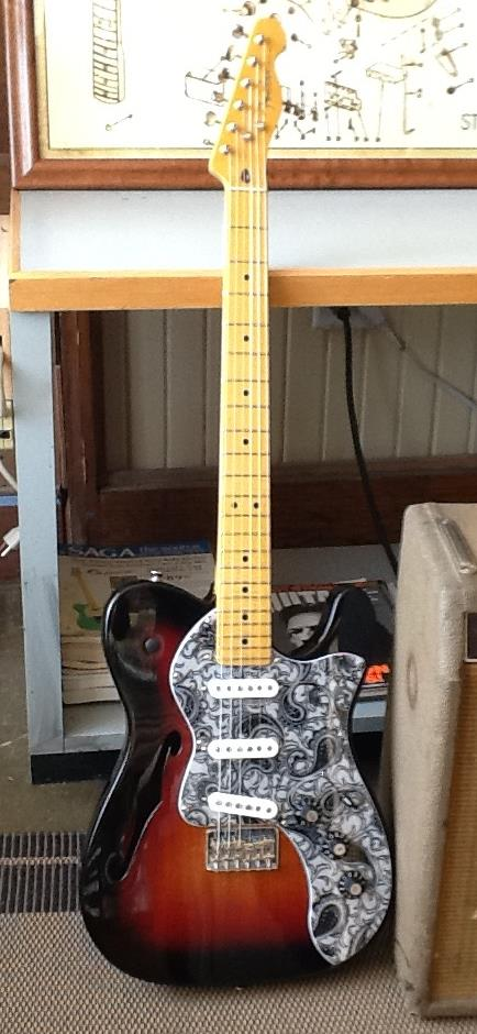 Thinline Fender Tele modification at GTS Tulsa