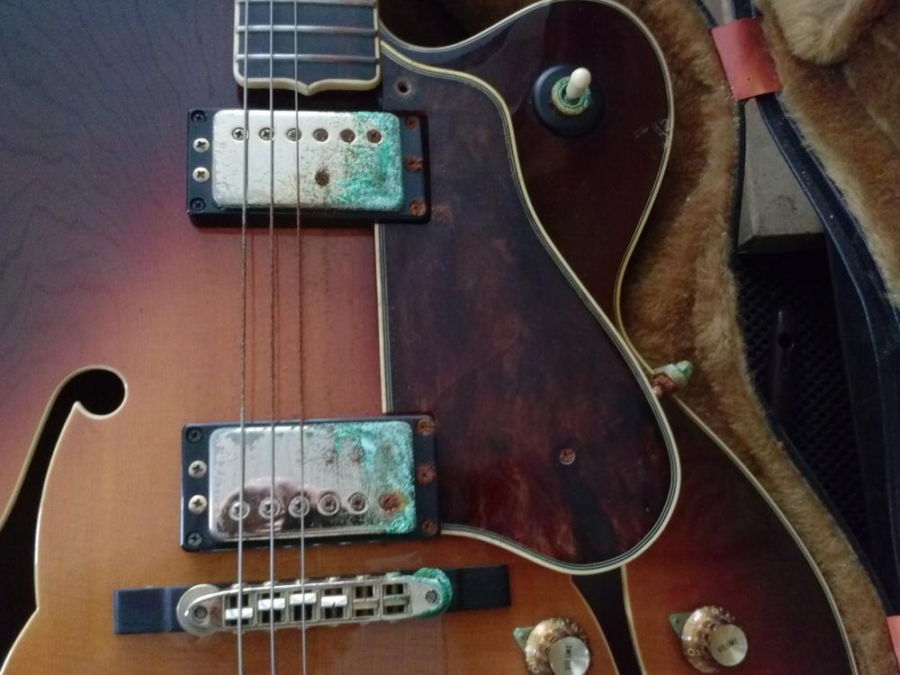 Celluloid gas affects, Guitar Restoration Tulsa GTS Guitar Repair