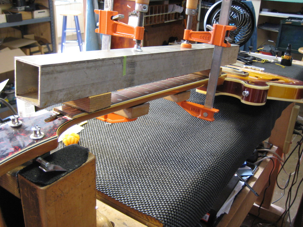 Clamped for adustment