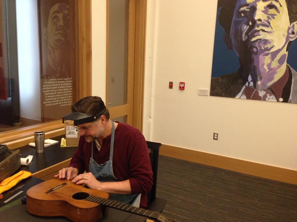 Guitar repair tulsa, GTS, Brad James, John Cohen, Martin, Woody Guthrie Center