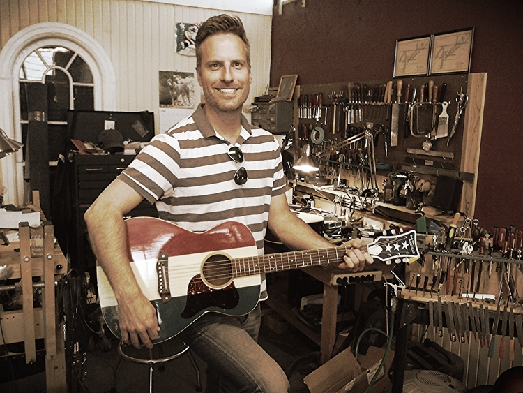 together again justin and his buck owens harmony guitar