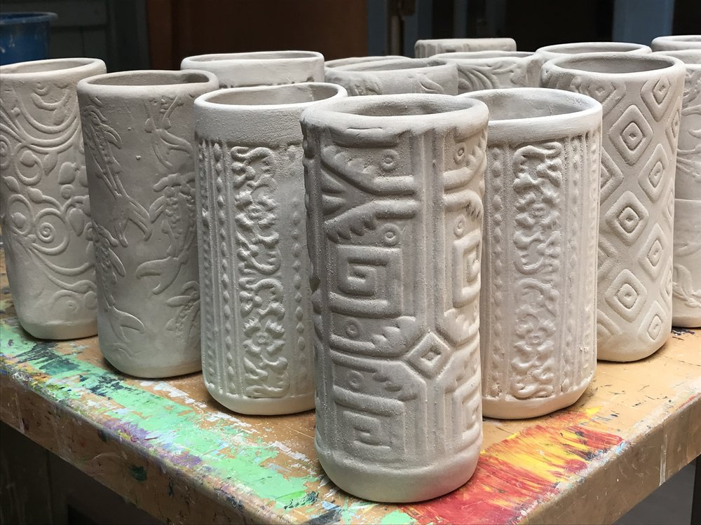 Angela Smith Kirkman pottery_Tiki Tumblers_Sep 2018  (4).JPG