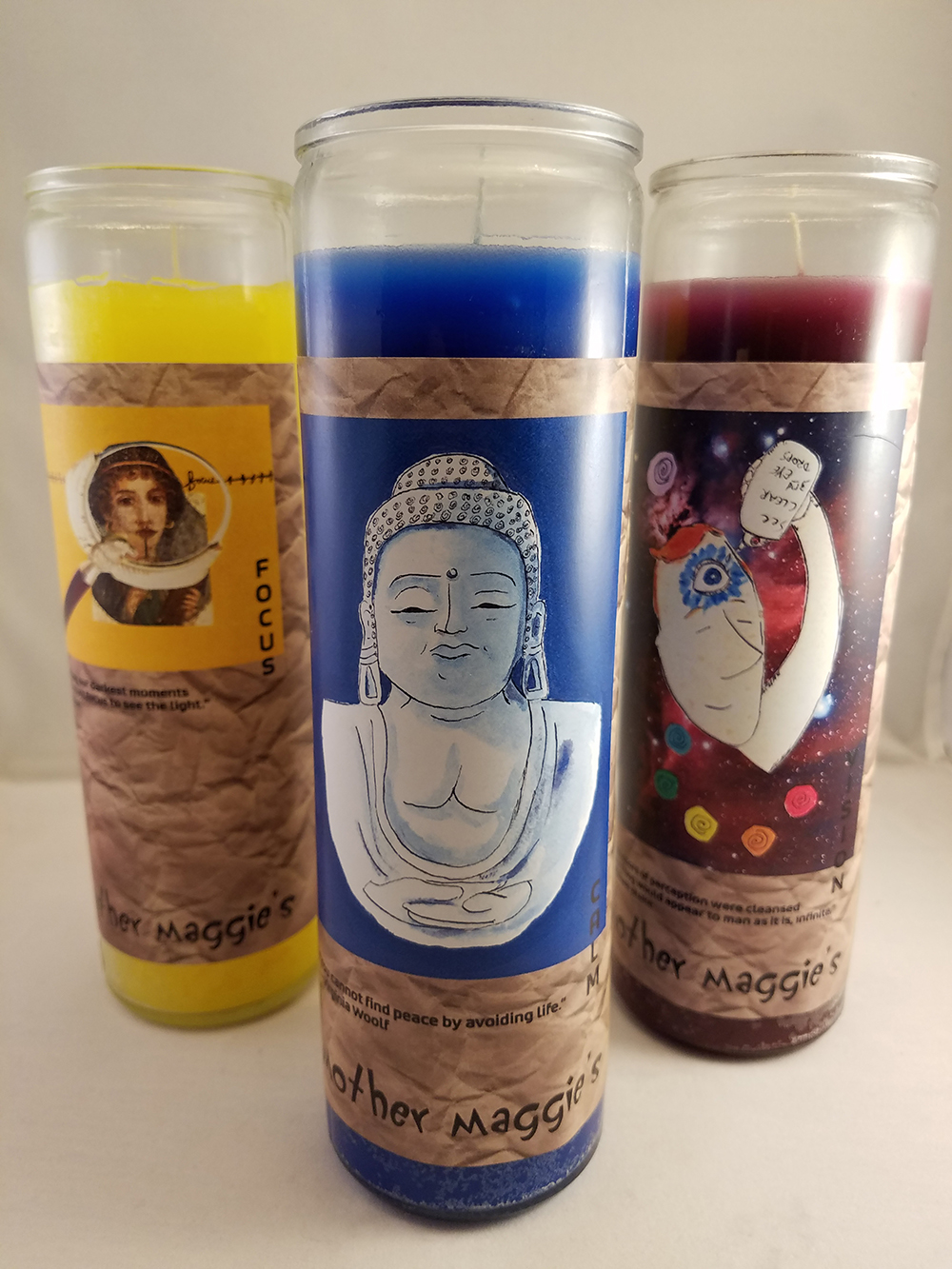 7-Day & 2-Day Glass-Encased Labeled Condition Candles