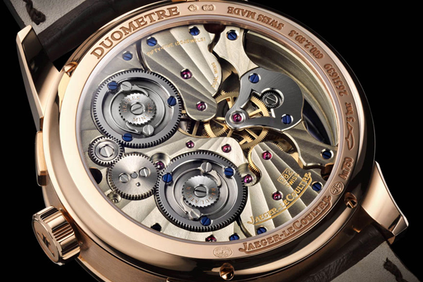 The movement inside a JLC Duometre, which exceeds anything the COSC can throw at it.