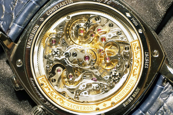 Back side of the Harmony Grand Complication Split Chronograph